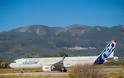 Φωτογραφίες από τις δοκιμές του νέου μοντέλου της Airbus στη Σάμο