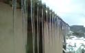 Τσουχτερό κρύο και μοναδικό θέαμα στην Αγιασο - Ο πάγος δημιούργησε εντυπωσιακά «γλυπτά»