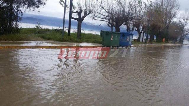 Σε... ποτάμια μετατράπηκαν οι δρόμοι από τη σφοδρή βροχόπτωση - Προβλήματα σε Ρίο, Καστελλόκαμπο - Φωτογραφία 2