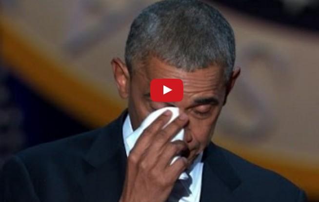 Ο ύμνος αγάπης του Ομπάμα στη Μισέλ: Ξέσπασε σε δάκρυα στην αποχαιρετιστήρια ομιλία του [photos+video] - Φωτογραφία 1
