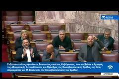 Θύελλα στη Βουλή - Ο Μπαρμπαρούσης καλεί τον στρατό να κάνει πραξικόπημα - ΒΙΝΤΕΟ