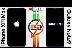 Συγκριτικό: Η μπαταρία του IPhone XS ήταν ασθενέστερη από το Samsung Galaxy Note 9