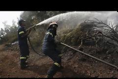 Οριοθετημένη η πυρκαγιά στην Εύβοια - Επί ποδός ισχυρές δυνάμεις πυρόσβεσης