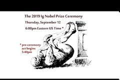 Ποιοι βραβεύθηκαν με τα Νόμπελ της τρελής επιστήμης (Ig Nobel) 2019;