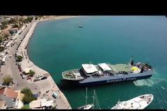ΔΕΙΤΕ ΒΙΝΤΕΟ: Το φέρι μποτ Ionion Pelagos  πιάνει λιμάνι στον ΑΣΤΑΚΟ