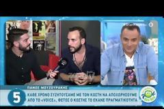 Πάνος Μουζουράκης: «Κάθε χρόνο συζητούσαμε με τον Κωστή Μαραβέγια να σταματήσουμε από το The Voice»