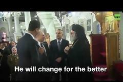 Viral βίντεο: Όταν Άσαντ και Πούτιν «κράζουν» τον Τραμπ εντός εκκλησίας