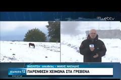 Πτώση θερμοκρασίας με καταιγίδες- Χιόνισε στα ορεινά των Γρεβενών! (video)