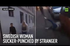 Σουηδία: Σοκάρει το βίντεο με τις γροθιές άνδρα σε ανυποψίαστη γυναίκα