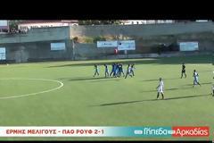 Επληκτικό γκολ από τον Βαγγέλη Μάντζιο με τον ΠΑΟ Ρουφ