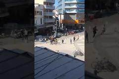 Άγριο ξύλο στο κέντρο του Ηρακλείου (Video)