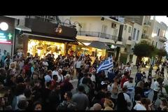 Πορείες διαμαρτυρίας και στην Κρήτη - Διαμαρτυρήθηκαν κατά του υποχρεωτικού εμβολιασμού (Pic)(Video)